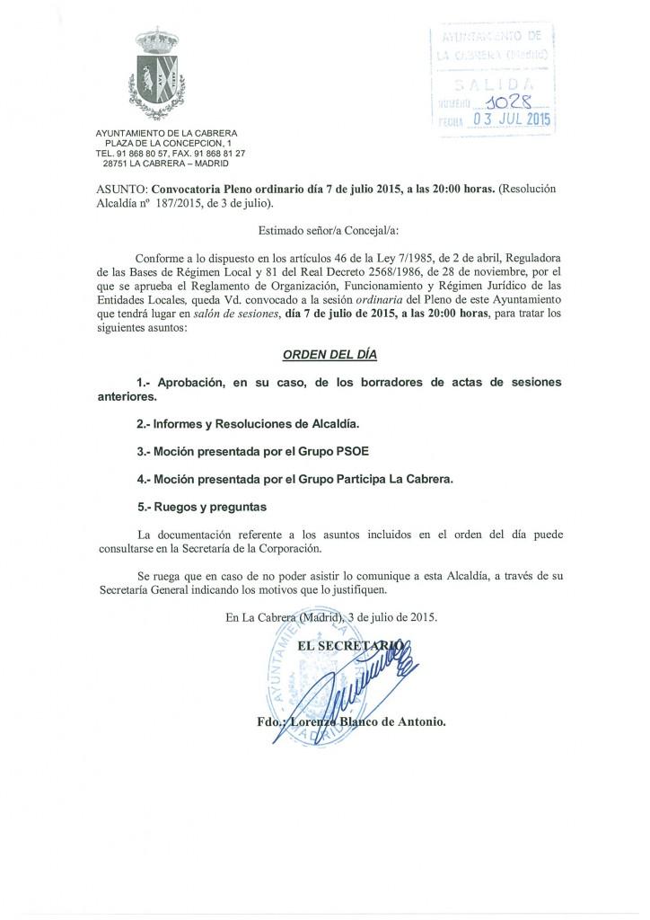 CONV PLENO ORD 07 07 2015