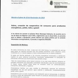 Participa La Cabrera propone crear una cooperativa para comprar los combustibles más baratos