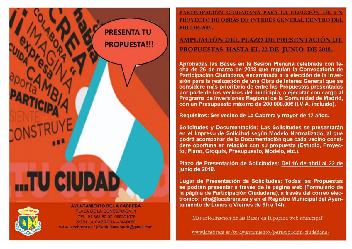 Participa La Cabrera – Una oposición responsable