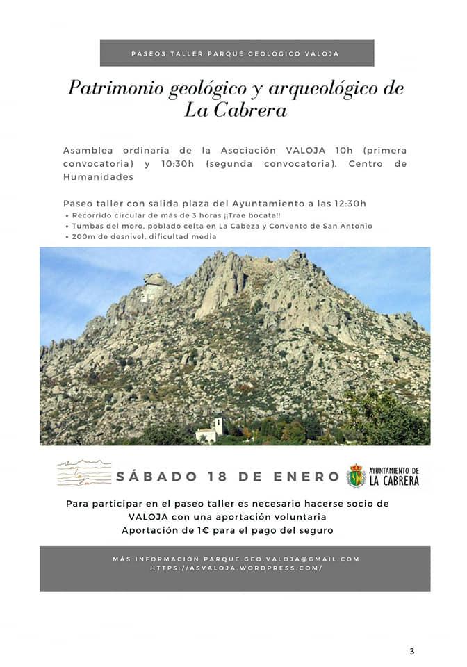 Paseo taller en la Sierra de La Cabrera – 18 Enero – 12:30